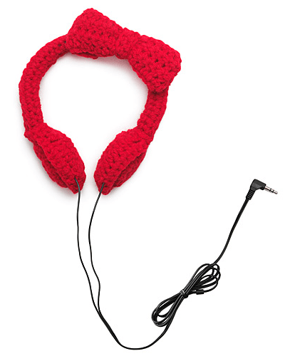 CROCHET BOW HEADPHONES