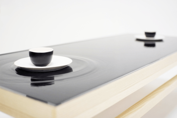 Ripple effect tea table