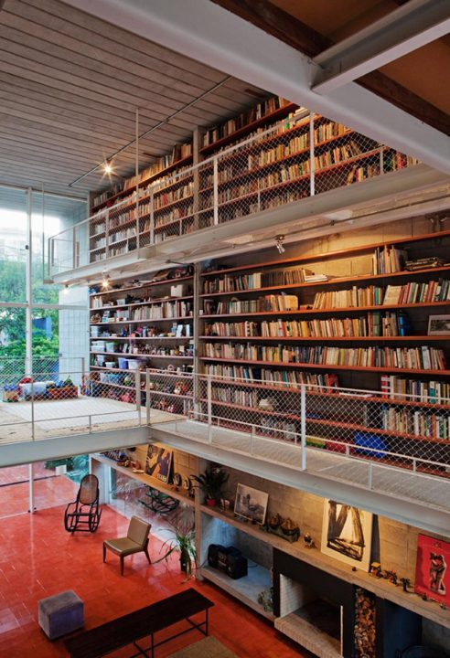 Bookcase Wall House