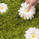 まるで部屋の中がお花畑に!デイジーの花咲く庭のようなラグがかわいい - Daisy Garden Rug -
