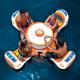 この夏のリア充専用! プールの真ん中が楽しい飲みの場に! - Island Table Float