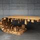 テーブルの裏が気になってしょうがない。インセプションの世界のようなコーヒーテーブル