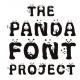 パンダだらけ!よく見るとたくさんのパンダがかくれんぼしているフォント
