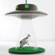 牛がUFOにさらわれてしまう! - The Alien Abduction Lamp -