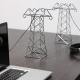 あえて隠さない、配線コードを魅せるミニチュア鉄塔 - Power Lines -